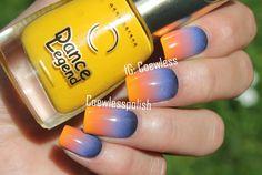 Nail art May #12 – Sunset | Coewless nail polish blog