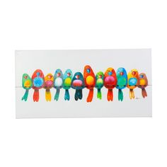 "24 in. x 48 in. ""Huddled Together"" Hand Painted Canvas Wall Art"