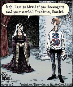 Shakespeare humour - Hamlet.