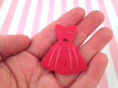 Red Dress Cabochons Laser Cut Acrylic Cabochons