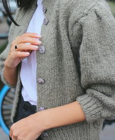 I've come to the realisation that I've never owned a cardigan, nor have I really felt the need to go out and buy one. But it seems to be a classic piece for some and… Chunky Knit Cardigan, Green Cardigan, Shopping Sites, Suede Ankle Boots, Comfortable Shoes, Going Out, Knitwear, Personal Style, Dress Up