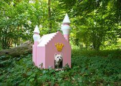 Hondenhuis Fairytale roze