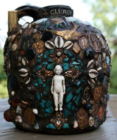 Memory Jug CLERGY by confettijulie on Etsy, $1299.00