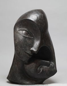 Sculpture: 'Mother and Child (VersionTwo) (abstract Heads statue ...