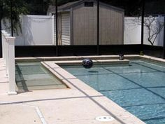 Pool planned with a built in ramp by disabled inventor.