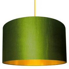 Handmade Gold Lined Lampshade In Gunmetal - lamp bases & shades Old Lamp Shades, Rustic Lamp Shades, Painting Lamp Shades, Floor Lamp Shades, Ceiling Lamp Shades, Painting Lamps, Light Shades, Copper Lampshade, Fabric Lampshade