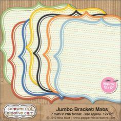 Jumbo Bracket Mats - #School from peppermintcreative.com