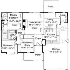 2 Story Narrow Lot Floor Plans further House Floor Plans 3 Bedroom 2 Bath further Floor Plans likewise TRanches besides House Plans Carmel Indiana. on floor plans for ranch homes with 4 bedrooms