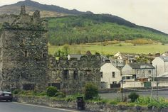 The ancient village of Carlingford, dominated by the ruins of the medieval King Johns Castle, lies on the border of Northern Ireland and the Irish Republic in County Louth. The Mountains of Mourne are a backdrop.