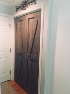Entryway Closet Doors Dining Rooms Ideas For 2019 Closet Door Makeover, Entryway Closet, Barn Door Closet, Diy Barn Door, Diy Door, Barn Doors For Closets, Diy Closet Doors, Bedroom Doors, Master Bedroom