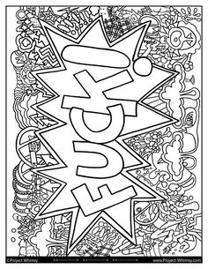 Project Whimsy Designs  >>>------------------------------>  Thank you for your interest in this instant download, hand drawn, adult coloring page! Please read below for details on purchasing this file.  THIS LISTING  This listing is for two, 8.5x11in, 300dpi, PDFs (One with black lines and one with gray). Make sure to print on the type of paper that is conducive to your coloring medium. Regular printer paper will work for colored pencils and markers, but you will want something th... Swear Word Coloring Book, Love Coloring Pages, Free Adult Coloring Pages, Printable Coloring Pages, Coloring Sheets, Coloring Books, Coloring Stuff, Bullet Journal Banner, Doodle Coloring