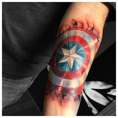 captain america tattoos - Google Search