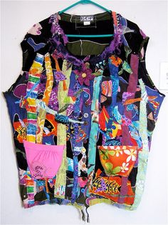 Tropical Colors  Wearable Art COLLAGE Oversized 2X mybonny
