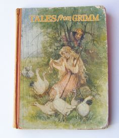 1933 Rare First Edition Tales from Grimm Hardcover Book Or Grimm's Fairy Tales The Saalfield Publishing Company by parkledge on Etsy