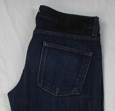 Naked & Famous Super Skinny Guy Raw Jeans Cotton Blend Made in CANADA 33 X 33 #NakedFamousDenim #Skinny
