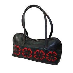 Purses And Pouches - Cut Out Flower Bag made from recycled tires