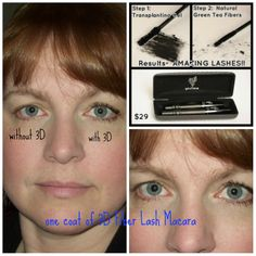 Yup, the real me. A real person using 3D Fiber Lashes Mascara.   www.youniqueproducts.com/dianafackler