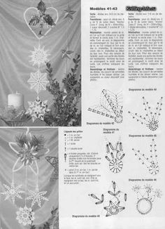 present for christmas: crochet ornaments - crafts ideas - crafts for kids Snowflake Craft, Snowflake Ornaments, Christmas Snowflakes, Ornament Crafts, Crochet Snowflake Pattern, Crochet Snowflakes, Crochet Motif, Crochet Patterns, Paper Snowflakes