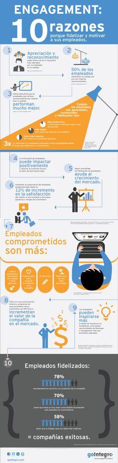 10 razones por las que fidelizar y motivar a sus empleados #infografia