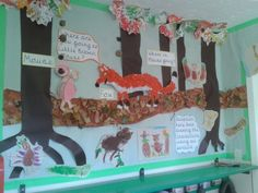 I have the best TA ever! This is the fantastic Gruffalo display that she made!