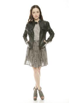 Pleat Cotton Skirt
