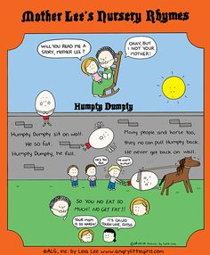 Today on Angry Little Girls - Comics by Lela Lee Angry Little Girls, Humpty Dumpty, Totally Awesome, Lol, Asian Girl, Smile, Humor, Face, Asia Girl