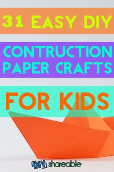 Love these easy construction paper crafts for kids, whether they're preschool, toddlers or any age! Keep them entertained in the dog days of summer or the dreary doldrums of winter with these projects.
