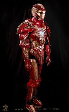 Asgardian Iron Man Completed Full Armor Custom Leather Armor by Prince Armory Like it! Share it! Comment! Like our page! www.PrinceArmory.com