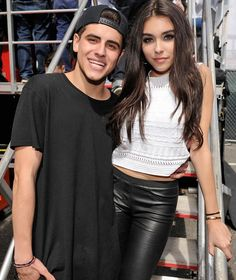 Jack Gilinsky and Madison Beer pose at DigiFest. (Photo: Twitter)
