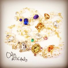「パール&ビジューブレスレット #accessory #bracelet #old #onlylovedaily」