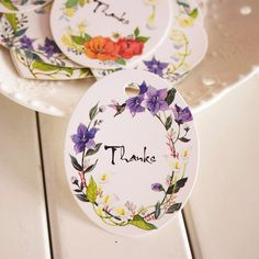 50pcs Heart and Oval Shape Thank You DIY Scrapbooking Paper Tags Kraft Crafts Wedding Decoration Postcards Labels Flowers