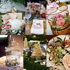Storybook / Fairytale Wedding Inspiration LOVE the idea of having flowers inside/cascading over bird cages. on a table (say dessert) surrounded by candles would so stunning Wedding Kiss, Our Wedding, Dream Wedding, Wedding Stuff, Summer Wedding, Wedding Themes, Wedding Decorations, Wedding Colours, Wedding Designs