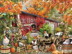 Barnyard Chickens Jigsaw Puzzle