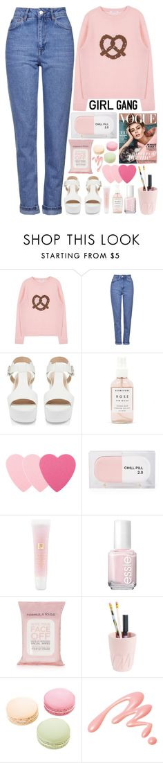 """Me & My Girls"" by annaclaraalvez ❤ liked on Polyvore featuring Topshop, Forever New, Herbivore Botanicals, Sephora Collection, Sarah's Bag, Lancôme, Essie, Ladurée, Chantecaille and women's clothing"