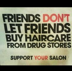 how to avoid diversion in salons: Shop locally and select a #Salon near you. Support the little guy, not the multi-national chain stores.
