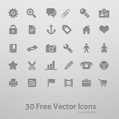 (PSD)  downloadable 30 Free Vector Icons