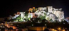 Salobreña's Castle illuminated