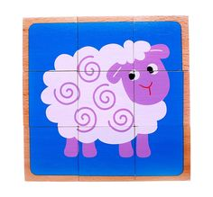 Amazon.com: Wooden Farm Animal Block Puzzle for Kids, Toddlers | 6 Puzzles in 1 | Colorful Solid Wood Cube Pieces | Educational & Sensory Learning for 2, 3 & 4 Year Olds: Toys & Games