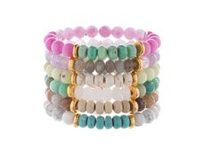 A Loves Affect Exclusive These beautiful semi-precious gemstone stretchies are the perfect addition to your arm party! They are super fun and easy to layer or stack with your favorite bracelets and watches! Each bracelet is hand strung on extra thick, durable stretch cord and is finished with our signature Loves Affect heart charm. Bracelets are one size fits most and are measured for a 6-7 wrist size. *Custom sizes now available per request. ♥ Please be aware that due to the unique and…