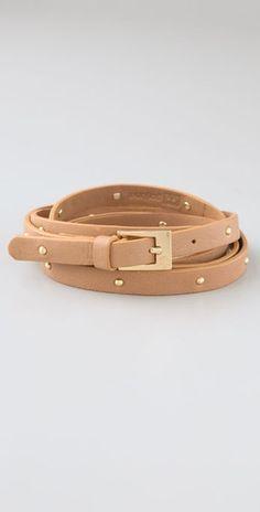 Studded wrap belt.