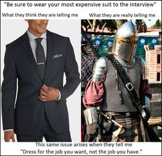 I would be the kind of person to walk in on an interview in Templar armor
