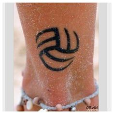 volleyball tattoo awesome design!! I would never get it, but it is pretty cool