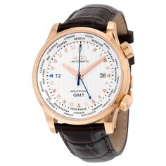 a738b182fb5f Mido GMT Automatic Silver Dial Brown Leather Men s Watch M0059293603100