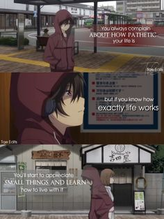 Quotes Deep Feelings, Mood Quotes, True Quotes, Sad Anime Quotes, Manga Quotes, Charlotte Anime, A Silent Voice, Amazing Quotes, Tokyo Ghoul