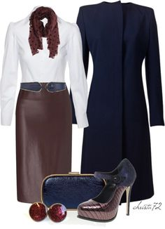 """Navy and Burgundy"" by christa72 on Polyvore"