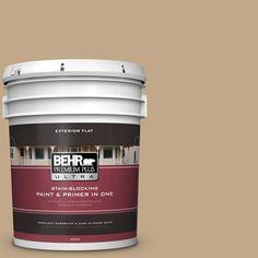 BEHR Premium Plus Ultra 5 gal. #T16-16 Symphony Gold Flat Exterior Paint
