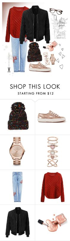 """outfit#43"" by fantafarawla ❤ liked on Polyvore featuring Eugenia Kim, Superga, Michael Kors, Accessorize, Citizens of Humanity, LE3NO and Brinley Co"