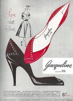 Wohl shoes Jacqueline advertisement, 1953