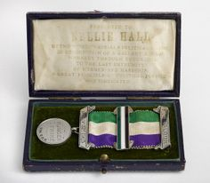 Medal commemorating suffragist Nellie Hall's hunger strike, 1913. Birmingham Museum and Art Gallery.