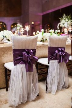 Featured Photographer: Archetype Studio; purple wedding reception details